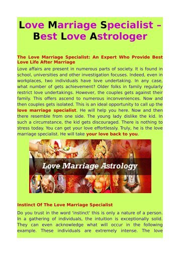 love marriage specialist – best love astrologer