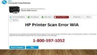How To Fix HP Printer Scan Error WIA 1-800-597-1052