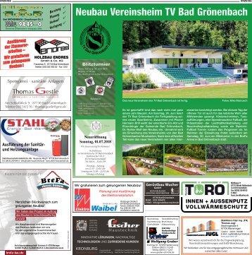Neubau Vereinsheim TV Bad Grönenbach