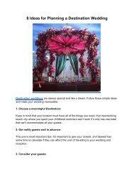 Ideas for Planning a Destination Wedding