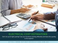 Complete Electrical Solutions for your Business - Electrical Estimating Solutions