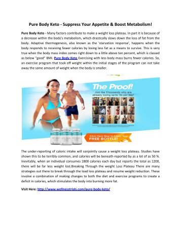 Pure Body Keto - Keep Your Body Healthy & Fit!