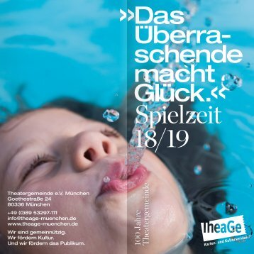 TheaGe-Jahresheft 2018/19