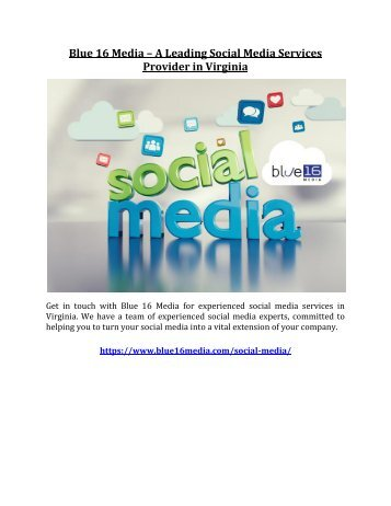 Blue 16 Media – A Leading Social Media Services Provider in Virginia