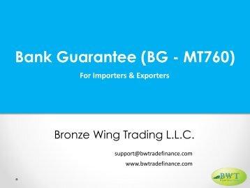 Bank Guarantee-MT760