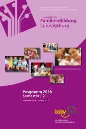 Semesterprogramm FamilienBildung Ludwigsburg - 2-2018