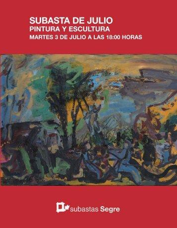 Catálogo subasta pintura Julio 2018