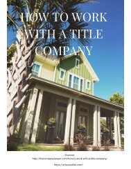 How to Work with a Title Company
