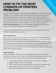 Fix Common Issues of HP Printer