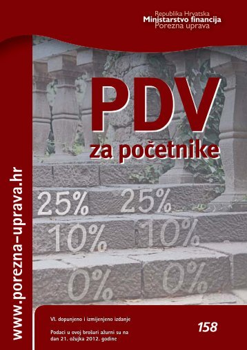 PDV za početnike - Porezna uprava