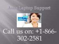 Asus Laptop Support  +1-866-302-2581