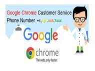 Eliminate Google Chrome Issues; Call +1-833-445-7444 Chrome Technical Support Number