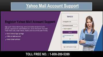 Yahoo Mail Sign up/Register, Dial 1-800-209-5399