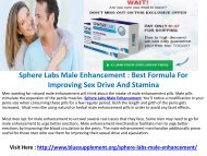 Sphere Labs Male Enhancement : It will Enhance Your Sexual Stamina And Desire