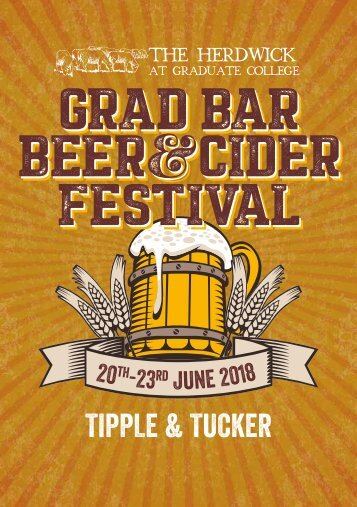 Beer and Cider Festival 2018 Brochure