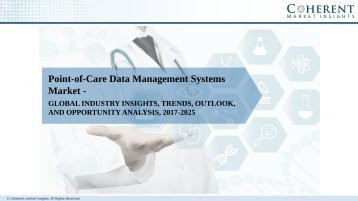 Point-of-Care Data Management Systems Market – Global Industry Insights Growth, Size, Share and Analysis, 2018-2026