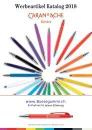 Carandache Werbeartikel - Katalog Werbemittel 2018-19
