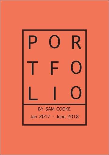 Jan 2017 - June 2018 Graphics Portfolio Booklet