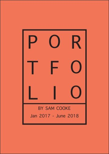 Jan 2017 - June 2018 Graphics Portfolio Booklet