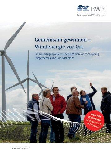 Gemeinsam gewinnen - Windenergie vor Ort