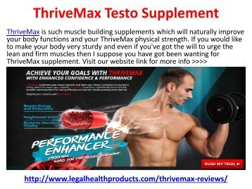 Thrive Max Testosterone Booster