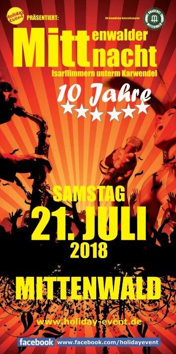 Mittenwalder Mittnacht Programm 2018