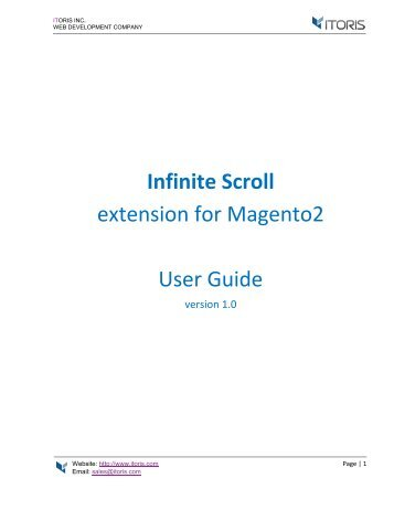 Magento 2 Infinite Scroll Extension by ITORIS
