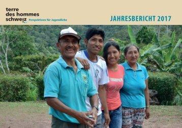 Jahresbericht von terre des hommes schweiz 2017