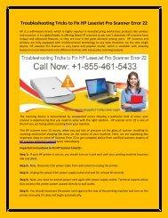 Troubleshooting Tricks to Fix HP LaserJet Pro Scanner Error 22