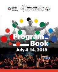 World Choir Games Tshwane 2018 - Program Book