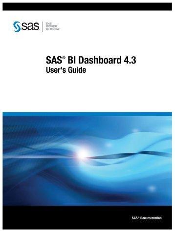 SAS BI Dashboard 4.3: User's Guide