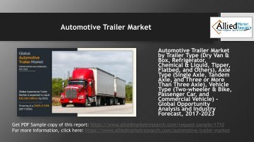 Automotive Trailer Market to grow at a CAGR of 3.8%.