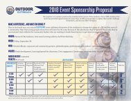2018 Lead the Way Sponsorship Proposal