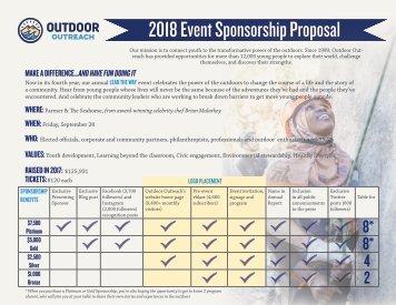 2018 Lead the Way Sponsorship Proposal