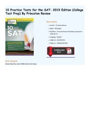 10 Practice Tests for the SAT, 2019 Edition: Extra Preparation to Help Achieve an Excellent Score (College Test Preparation) by Princeton Review
