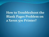 How to troubleshoot the blank pages problem on a Xerox 570 printer?