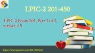 LPIC-2 Exam 201-450 pdf dumps
