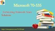 Microsoft Azure 70-535 pdf dumps