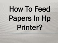 Easy Steps To Feed Papers In HP Printer