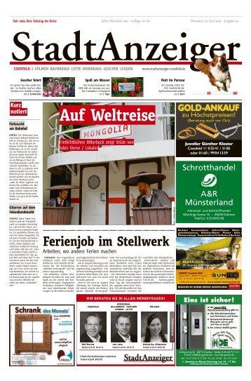 Stadtanzeiger Coesfeld kw 25