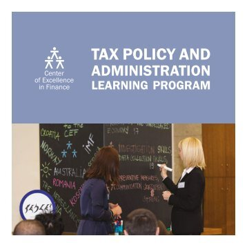 Tax Policy and Administration Learning Program
