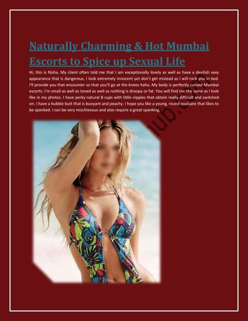 Naturally Charming & Hot Mumbai Escorts to Spice up Sexual Life