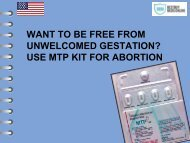 WANT TO BE FREE FROM UNWELCOMED GESTATION USE MTP KIT FOR ABORTION