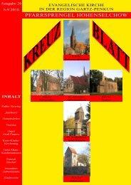 Ausgabe 26 Juni-September 2010 - Pfarrsprengel Hohenselchow