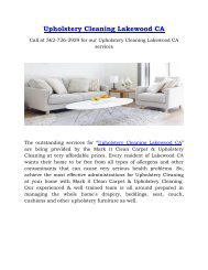 Outstanding services for Upholstery Cleaning Lakewood CA