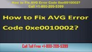 How to Fix AVG Error Code 0xe0010002? +1-800-209-5399