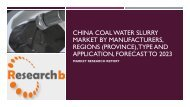 China Coal Water Slurry Market by Manufacturers,