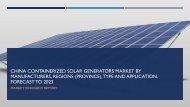 China Containerized Solar Generators Market