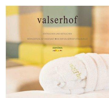 Beautykatalog Valserhof