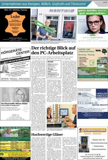 Unternehmen aus Kempen, Willich, Grefrath und Tönisvorst  -20.06.2018-